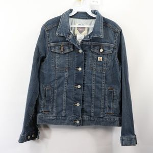 Carhartt Womens Medium Button Front Denim Jacket